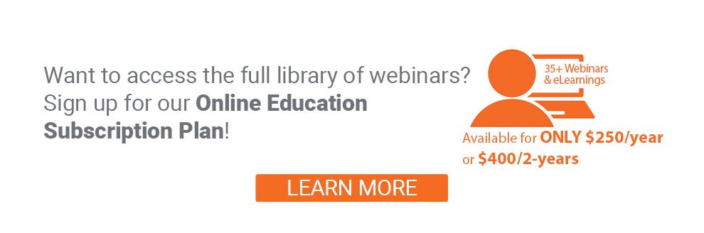 LP3 Network Online Education Subscription Plan Webinars eLearning
