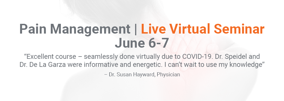 Pain Management Live Virtual Seminar