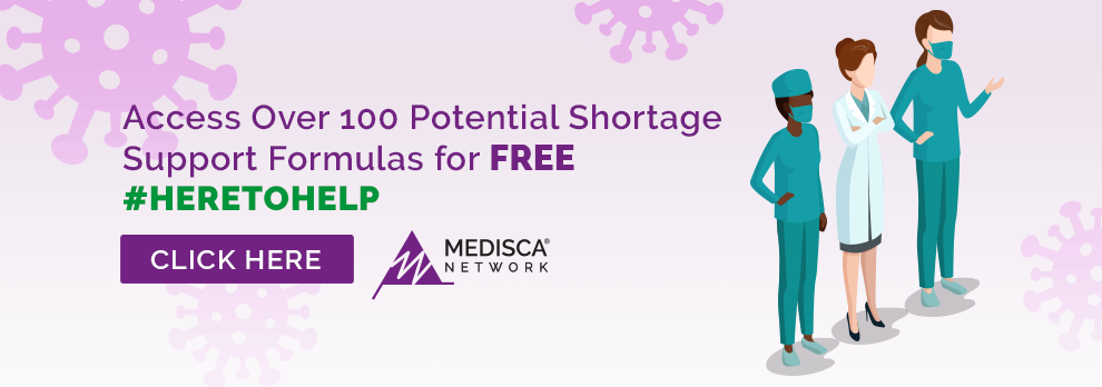 Access over 100 potential shortage support formulas for free #heretohelp